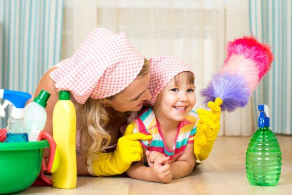 Dicas de limpeza para quem tem crianças em casa